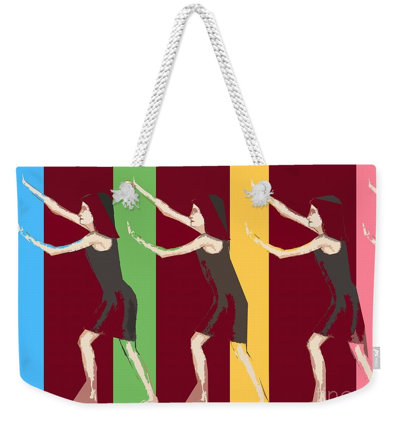 Denial Weekender Tote Bag featuring the painting Living In Denial by Patrick J Murphy