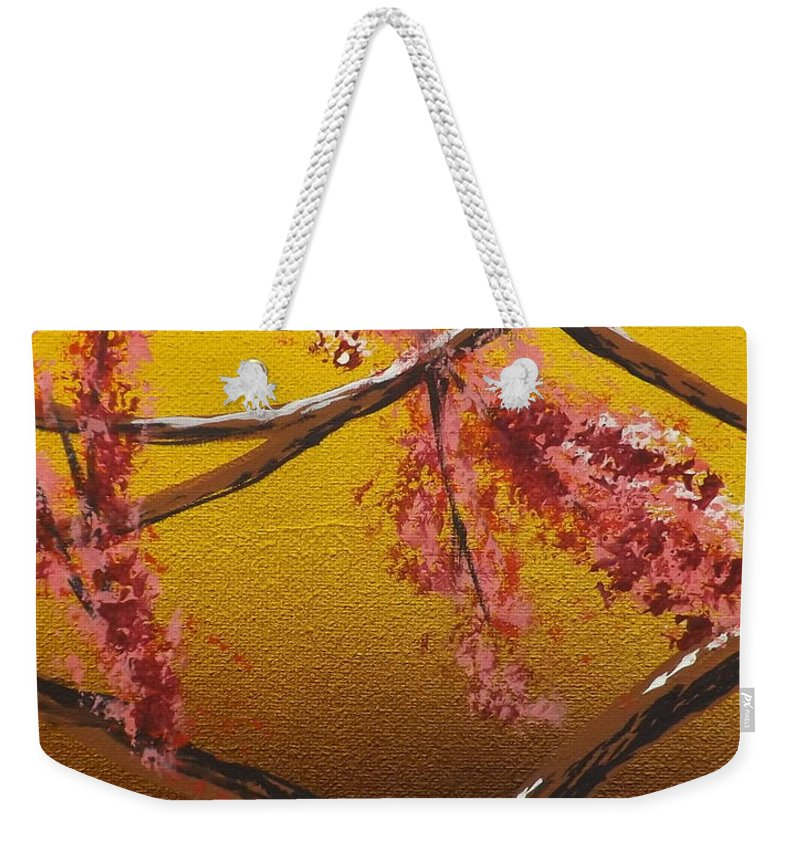 Living Loving Tree Weekender Tote Bag featuring the painting Living Loving Tree Bottom Center by Darren Robinson