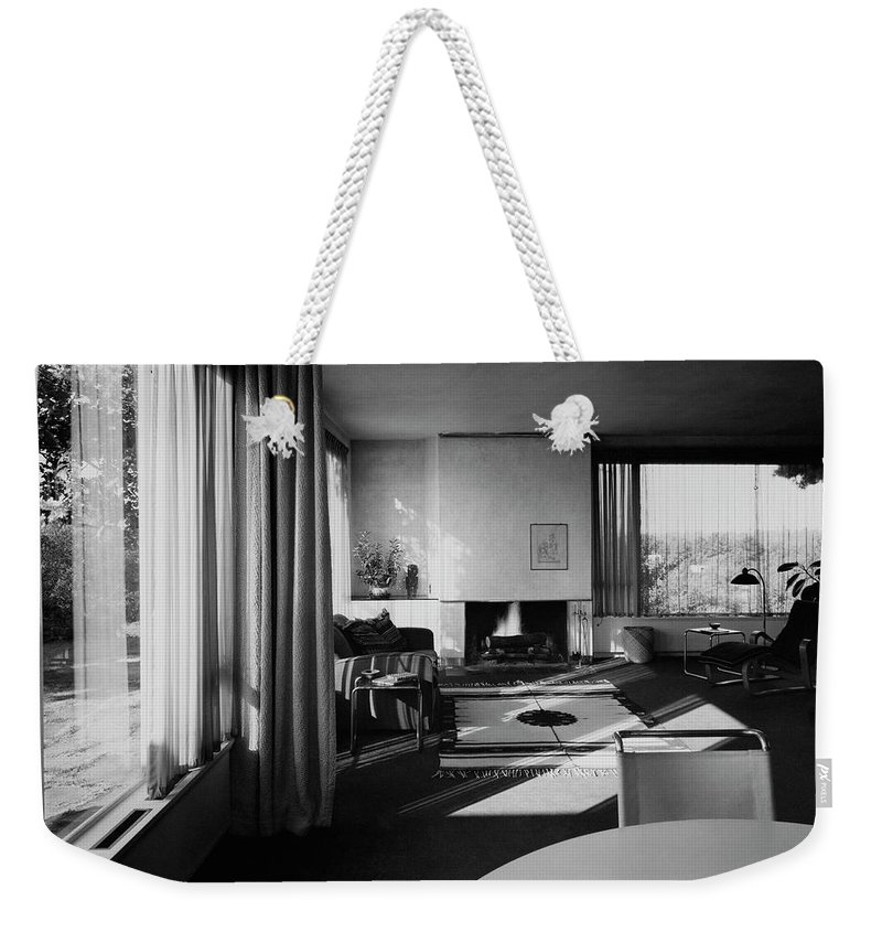 Home Weekender Tote Bag featuring the photograph Living Room In Mr. And Mrs. Walter Gropius' House by Robert M. Damora