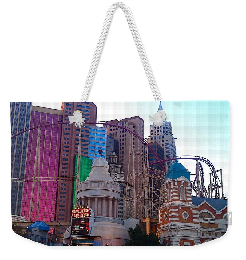 Architecture Weekender Tote Bag featuring the photograph Skyline Fantasies by Jacqueline Howe