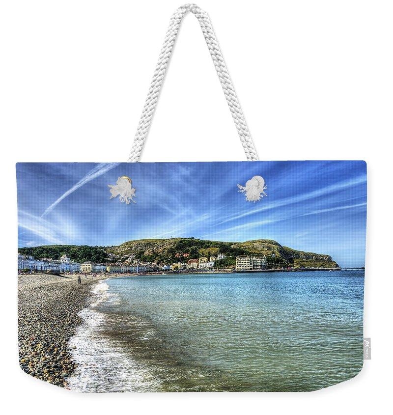 Beach Weekender Tote Bag featuring the photograph Llandudno Beach by Svetlana Sewell