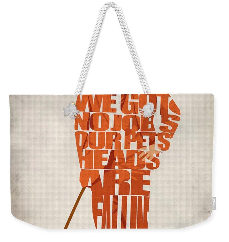 Lloyd Christmas Weekender Tote Bag featuring the digital art Lloyd Christmas by Inspirowl Design
