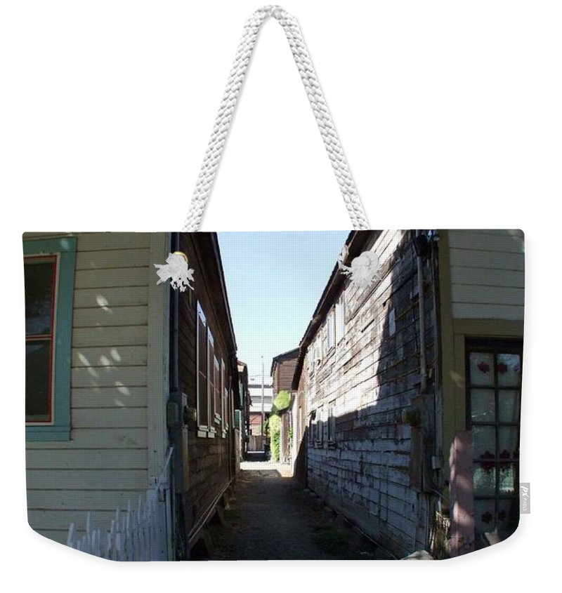 Alley Weekender Tote Bag featuring the photograph Locke Chinatown Series - Back Alley - 6 by Mary Deal