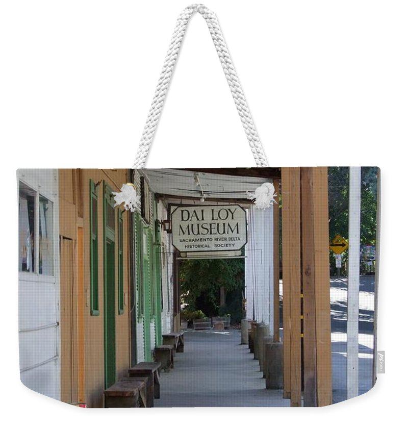 Al The Wops Weekender Tote Bag featuring the photograph Locke Chinatown Series - Main Street - 7 by Mary Deal