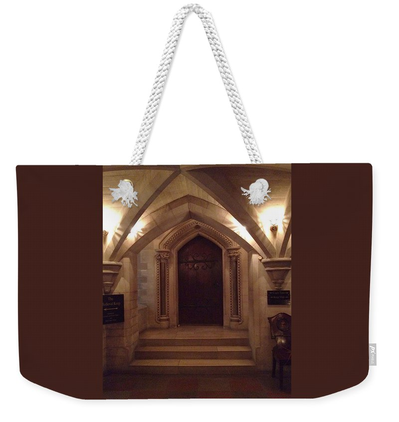 Photograph Weekender Tote Bag featuring the photograph Locked Door by Nicole Parks