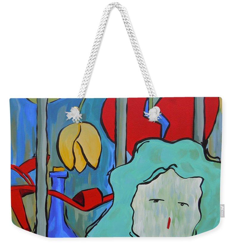 Heart Weekender Tote Bag featuring the painting Locked Up by Tonya Henderson