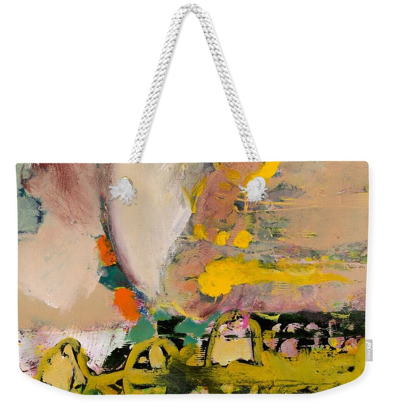 Landscape Weekender Tote Bag featuring the painting Locomotion by Allan P Friedlander