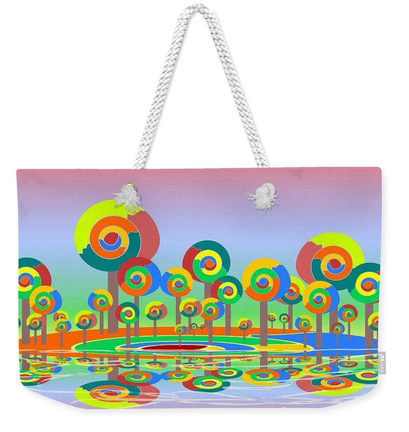 Malakhova Weekender Tote Bag featuring the digital art Lollypop Island by Anastasiya Malakhova