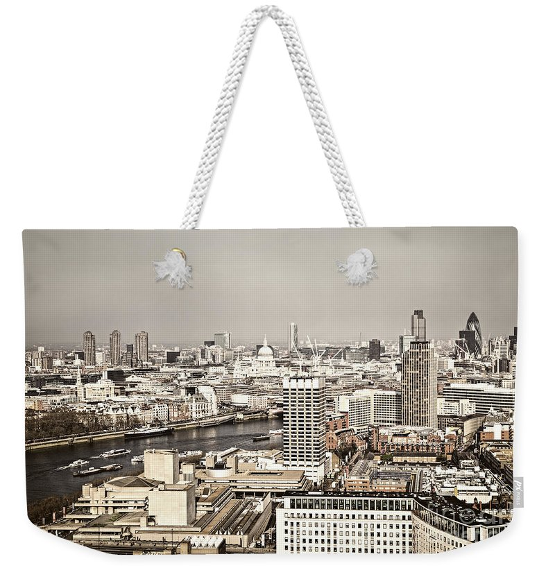 Buildings Weekender Tote Bag featuring the photograph London Cityscape by Elena Elisseeva