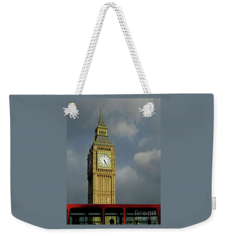 London Icons By Ann Horn Weekender Tote Bag featuring the photograph London Icons by Ann Horn