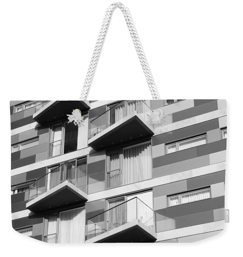 London City Mono Weekender Tote Bag featuring the photograph London Life by Julia Gavin