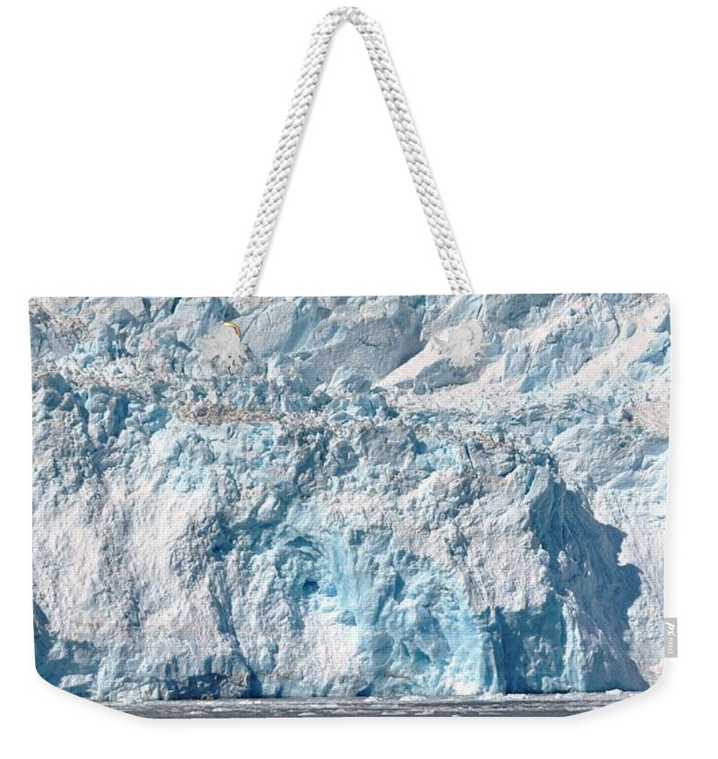 Glacier Weekender Tote Bag featuring the photograph Lone Iceberg by Deanna Cagle