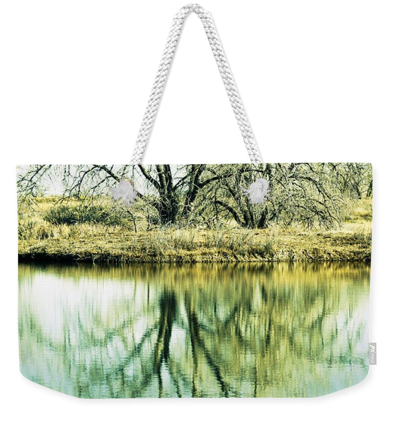 Lone Weekender Tote Bag featuring the photograph Lone Tree 2 by Marilyn Hunt