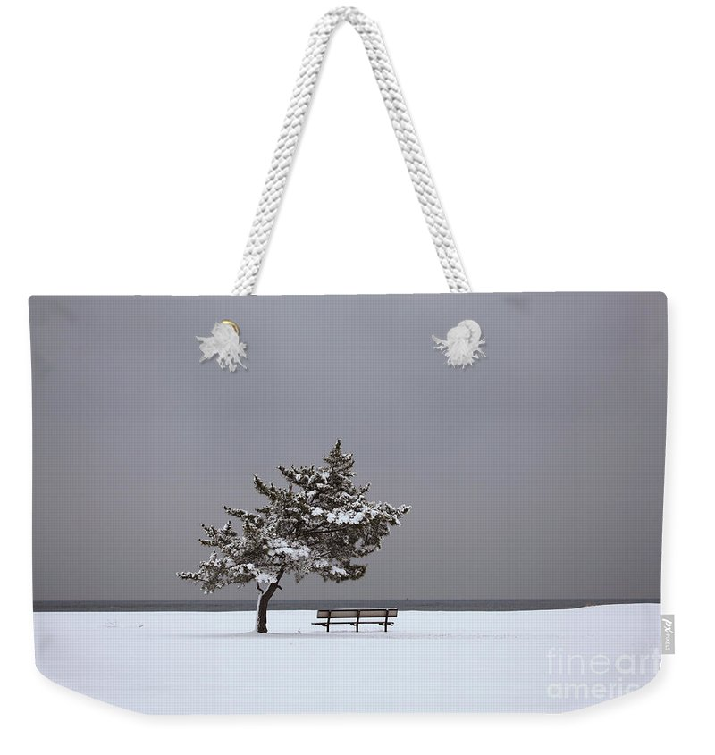 Winter Weekender Tote Bag featuring the photograph Lonesome Winter by Karol Livote