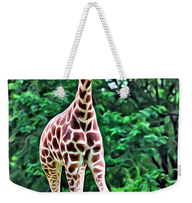 Giraffe Weekender Tote Bag featuring the photograph Long by Alice Gipson