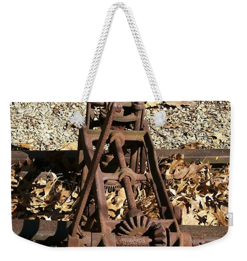 Railroad Weekender Tote Bag featuring the photograph Long Forgotten by Sara Raber