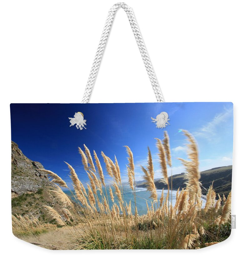 Long Weekender Tote Bag featuring the photograph Long Grass Blowing In Wind by Agnes Arnold Photography