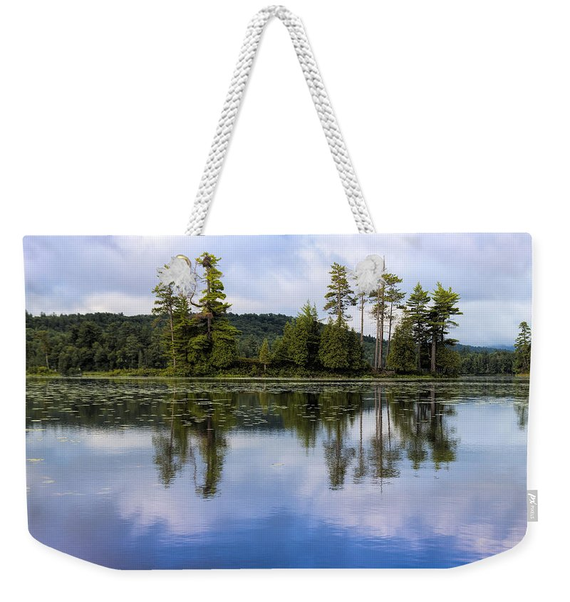 Long Lake Weekender Tote Bag featuring the photograph Long Lake Reflection by David Stone