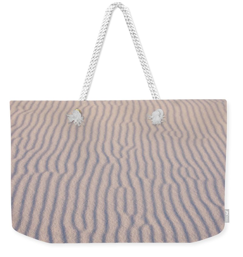 White Sands Weekender Tote Bag featuring the photograph Long Lines by Vivian Christopher
