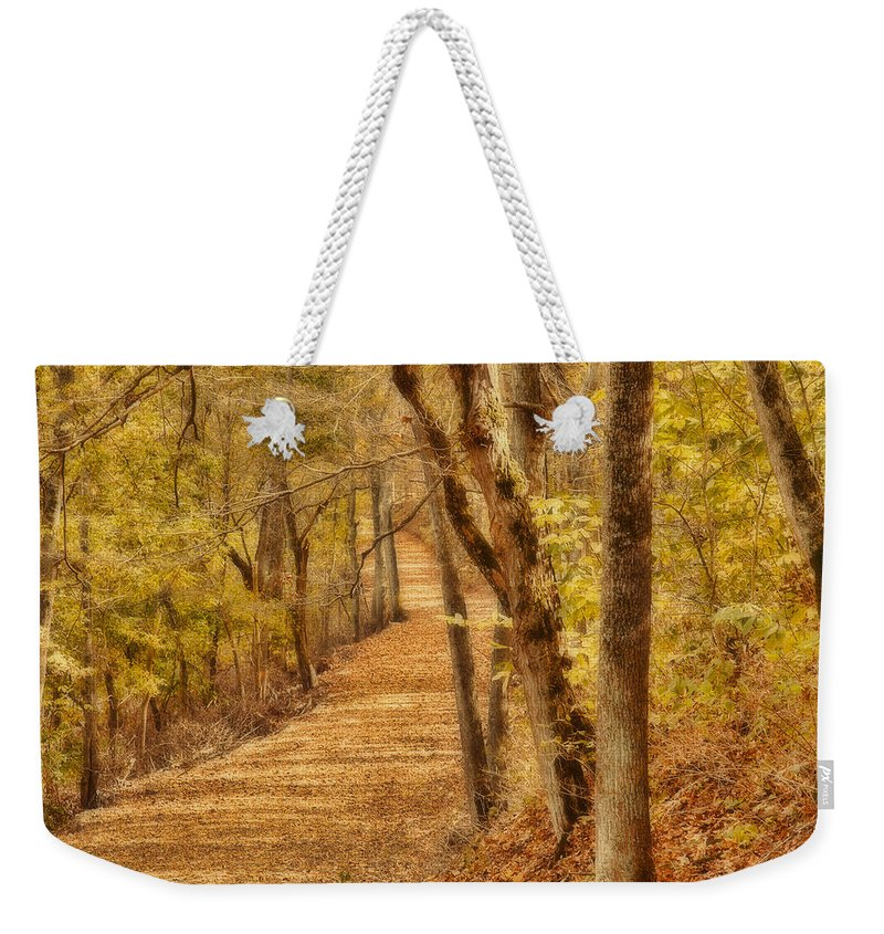 Art Weekender Tote Bag featuring the photograph Long Road by Jack R Perry