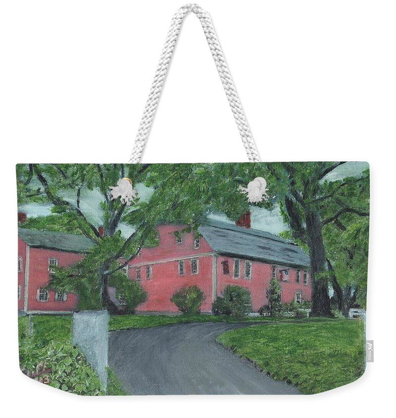 Historic Site Weekender Tote Bag featuring the painting Longfellow's Wayside Inn by Cliff Wilson