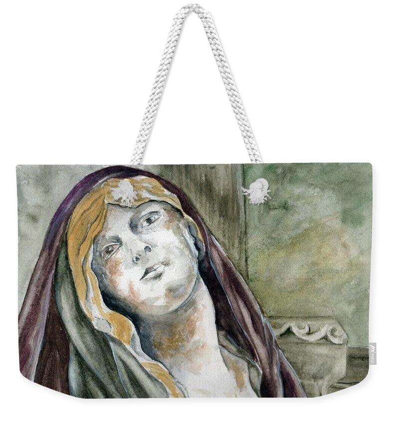 Portrait Weekender Tote Bag featuring the painting Longing by Brenda Owen