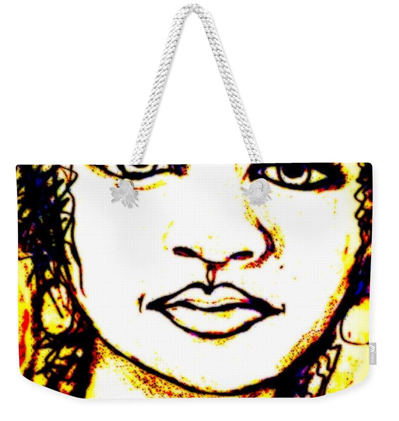 Woman Weekender Tote Bag featuring the digital art Look In The Mirror - Make A Change by Angela L Walker