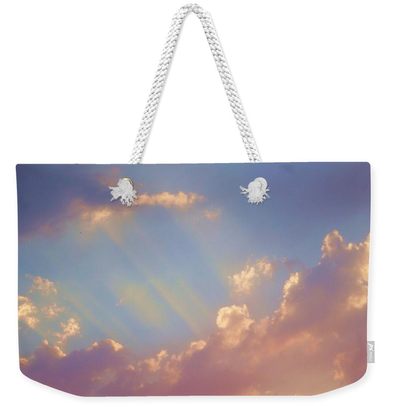 Skies Weekender Tote Bag featuring the photograph Look Up. by Jewell McChesney