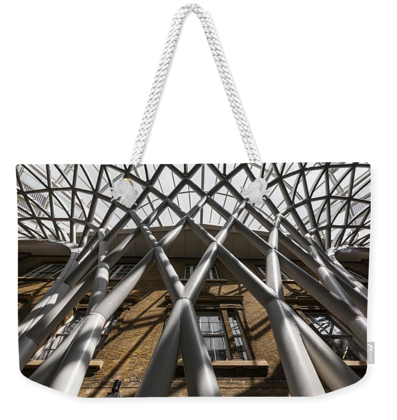 Abstract Weekender Tote Bag featuring the photograph Look Up by Svetlana Sewell