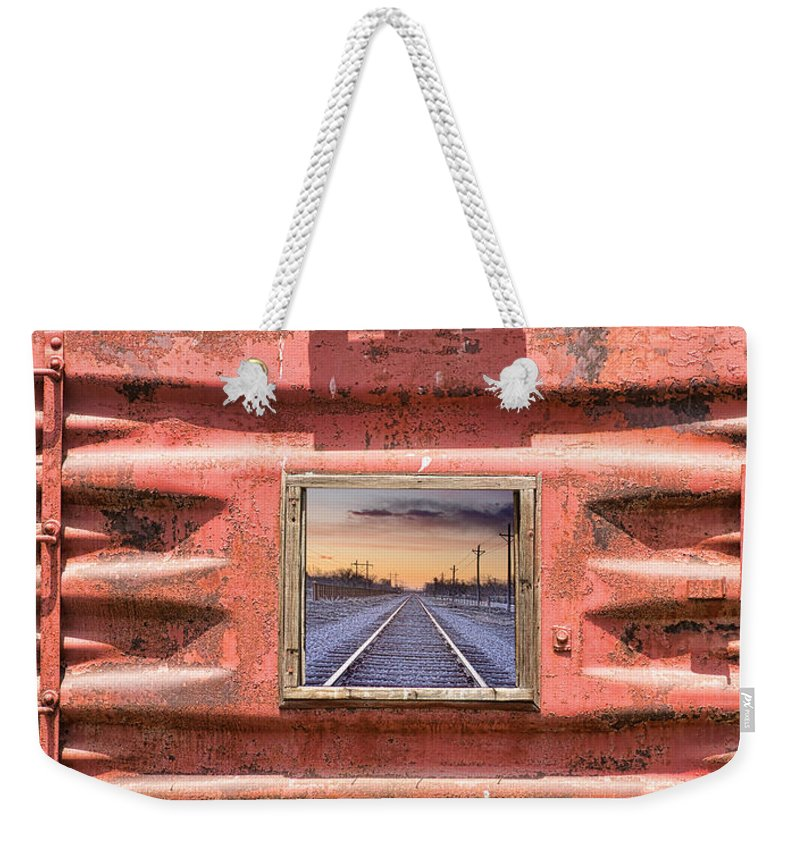 Trains Weekender Tote Bag featuring the photograph Looking Back Panorama by James BO Insogna