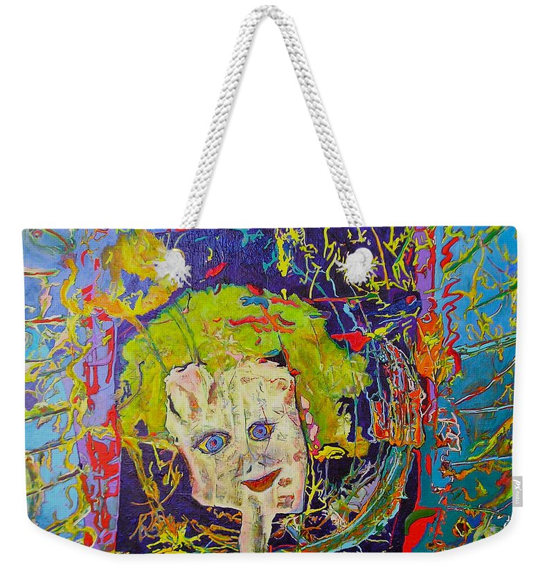Hidden Weekender Tote Bag featuring the painting Looking Through The Picture Frame by Catherine Helmick