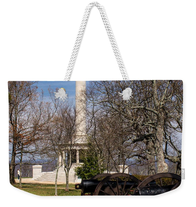 Lookout Weekender Tote Bag featuring the photograph Lookout Mountain Peace Monument 2 by Douglas Barnett