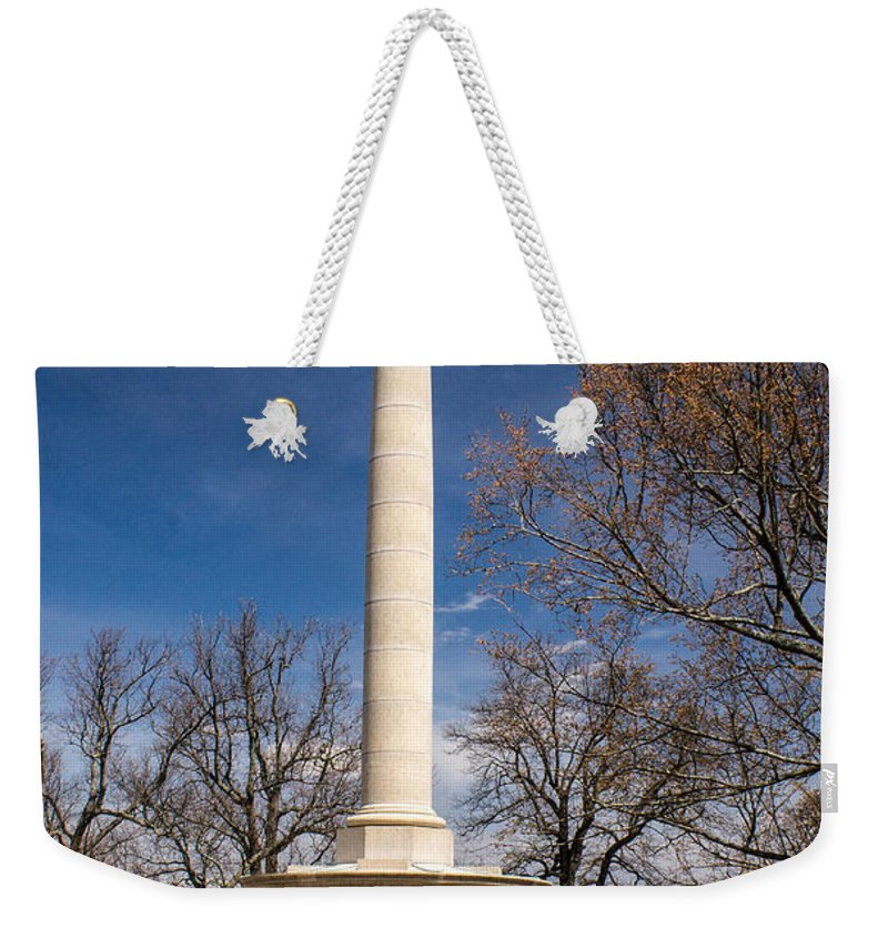 Lookout Weekender Tote Bag featuring the photograph Lookout Mountain Peace Monument 4 by Douglas Barnett