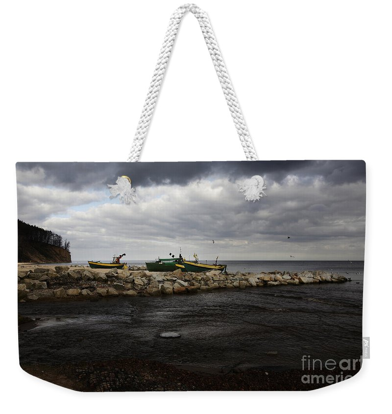 Boats Weekender Tote Bag featuring the photograph Lost Boats by Jaroslaw Blaminsky