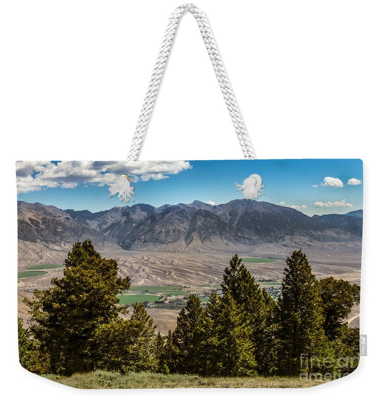 Lost River Weekender Tote Bag featuring the photograph Lost River Mountains by Robert Bales