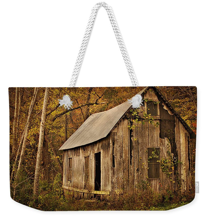 Lost Valley School Weekender Tote Bag featuring the photograph Lost Valley School by Priscilla Burgers