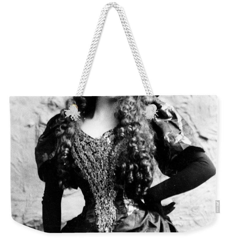 Lottie Collins Weekender Tote Bag featuring the digital art Lottie Collins by Studio Artist