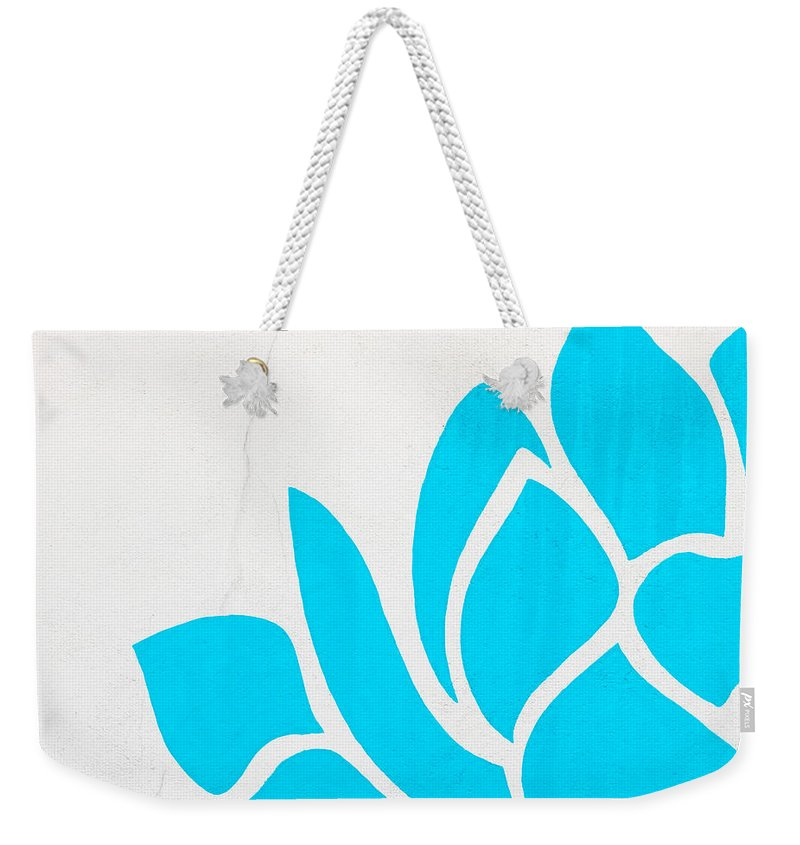 Lotus Weekender Tote Bag featuring the photograph Lotus Blossom by Art Block Collections