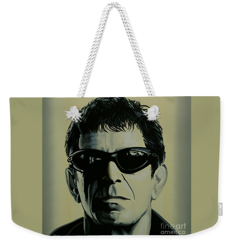 Lou Reed Weekender Tote Bag featuring the painting Lou Reed Painting by Paul Meijering