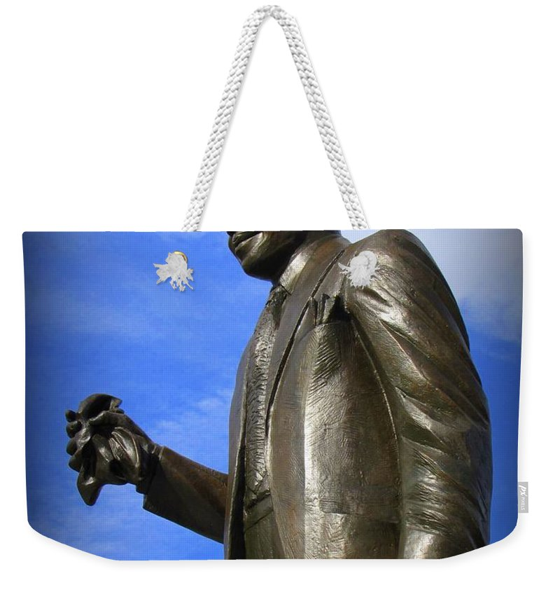 Louis Armstrong Weekender Tote Bag featuring the photograph Louis Armstrong by Beth Vincent