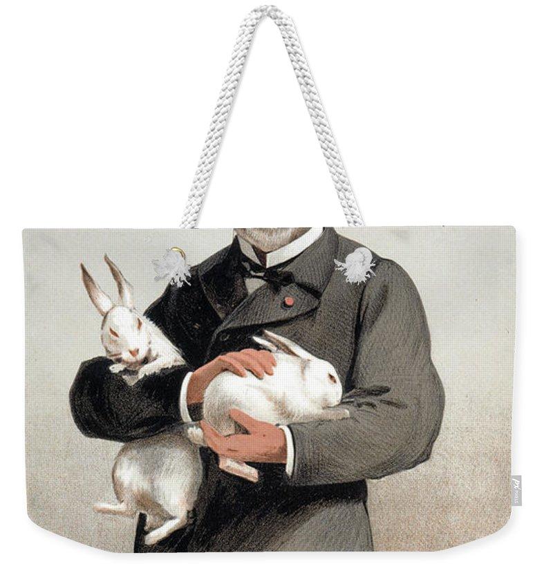 1887 Weekender Tote Bag featuring the drawing Louis Pasteur by Granger