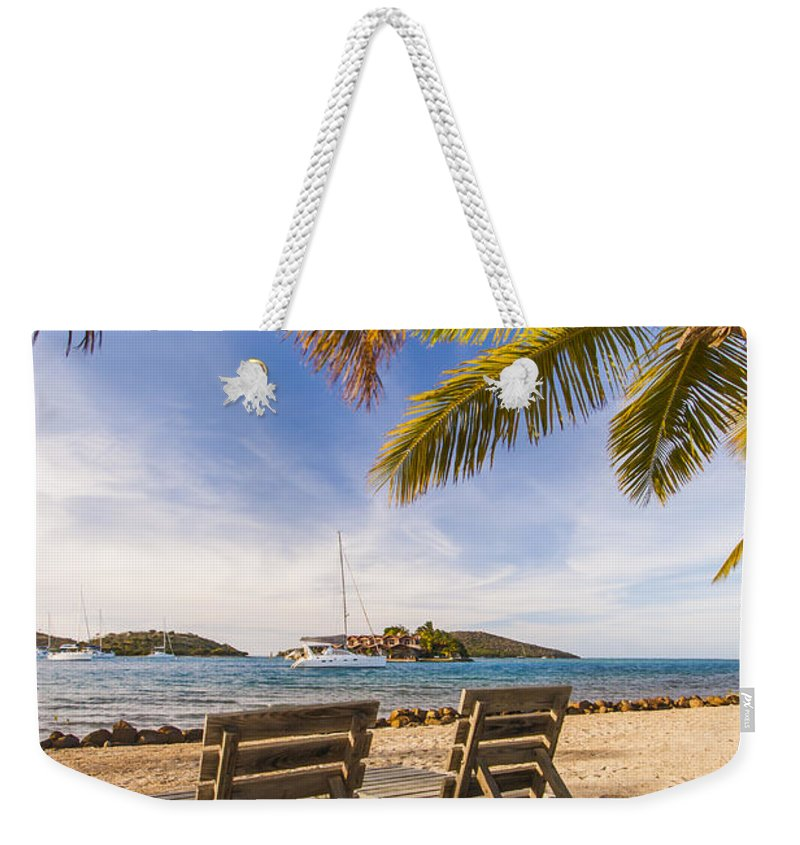 3scape Photos Weekender Tote Bag featuring the photograph Lounging At The Bitter End by Adam Romanowicz