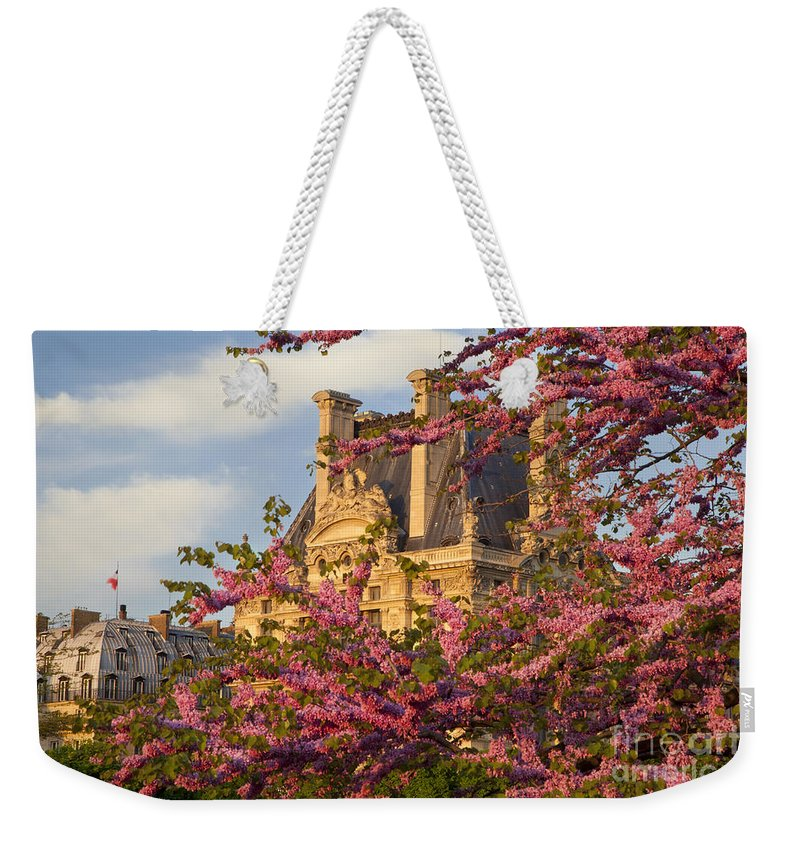 Architecture Weekender Tote Bag featuring the photograph Louvre Blossoms by Brian Jannsen