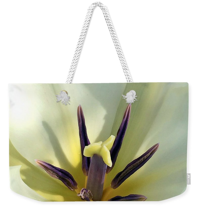 Macro Weekender Tote Bag featuring the photograph Love Grows Within by Kerri Farley