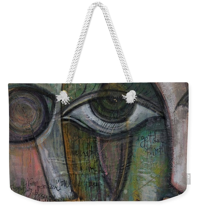 Love Weekender Tote Bag featuring the painting Love. I Remember You This Way by Laurie Maves ART