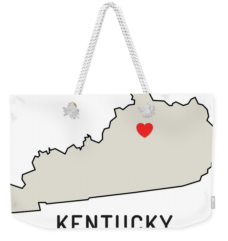 Design Element Weekender Tote Bag featuring the digital art Love Kentucky State by Chokkicx