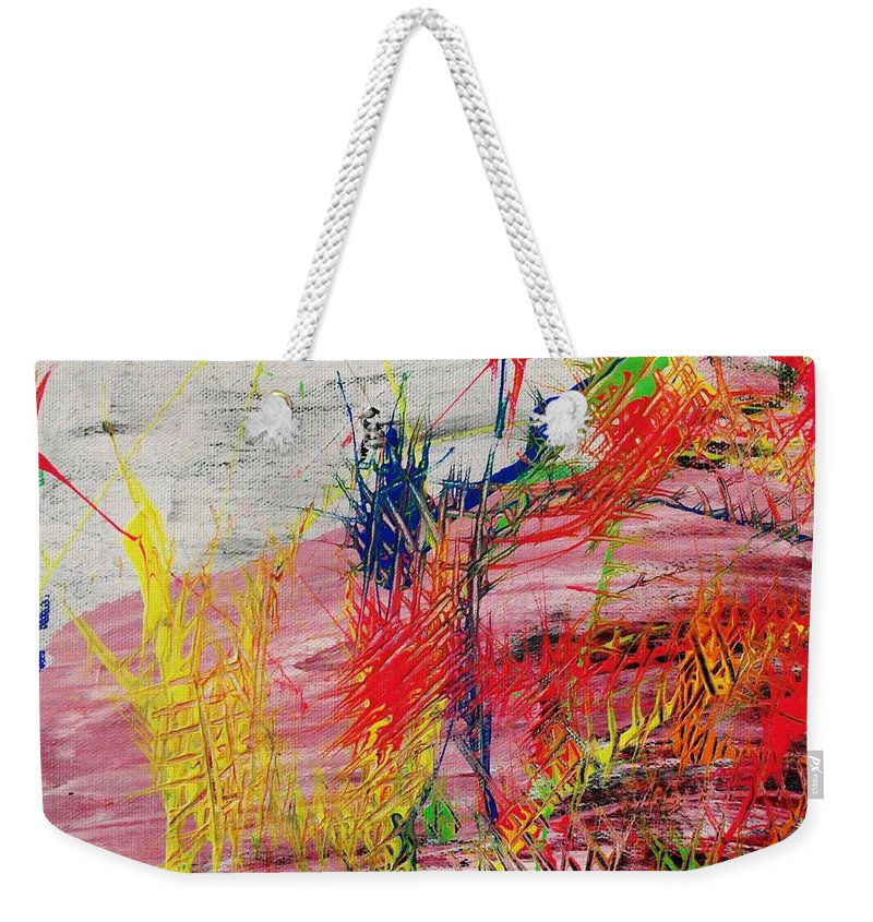 Abstract Weekender Tote Bag featuring the painting Love Of Life #1 by Wayne Cantrell