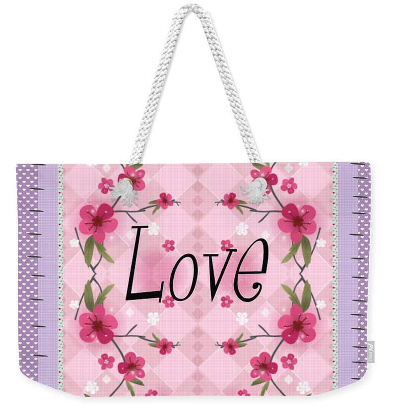 Love Weekender Tote Bag featuring the photograph Love Purple by Nina Ficur Feenan
