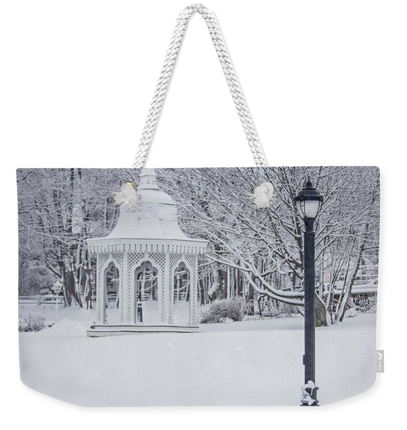 Bar Harbor Weekender Tote Bag featuring the photograph Love Through The Winter by Evelina Kremsdorf