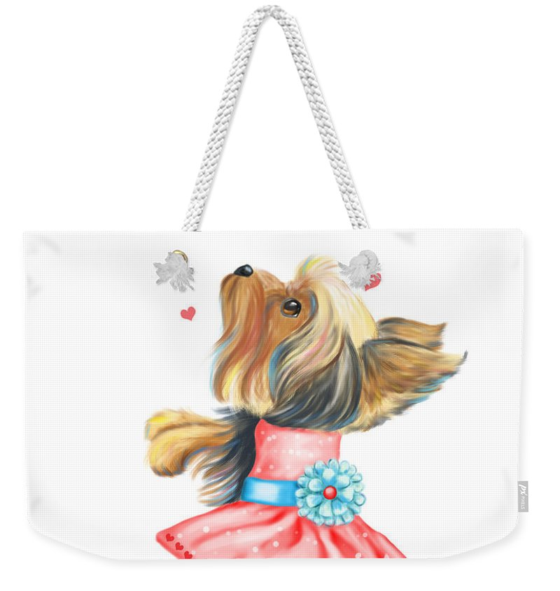 Catia Weekender Tote Bag featuring the mixed media Love Without Ends by Catia Lee